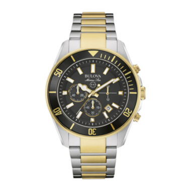 jcpenney.com | Bulova® Marine Star Mens Two-Tone Stainless Steel Watch 98B249