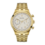 Bulova® Classic Mens Gold-Tone Stainless Steel Watch 97B149