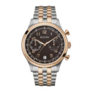 Bulova® Classic Mens Two-Tone Stainless Steel Watch 98B248