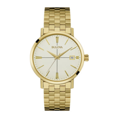 jcpenney.com | Bulova® Classic Mens Gold-Tone Stainless Steel Watch 97B152