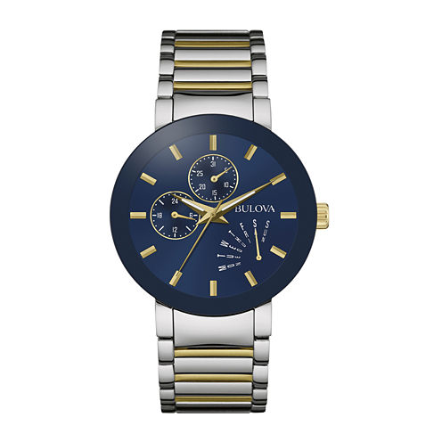Bulova® Classic Mens Two-Tone Stainless Steel Watch 98C123