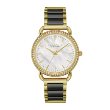 jcpenney.com | Caravelle New York® Womens Crystal-Accent Two-Tone Stainless Steel Bracelet Watch 44L187