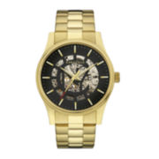 Caravelle New York® Mens Gold-Tone Stainless Steel Automatic Watch 44A107
