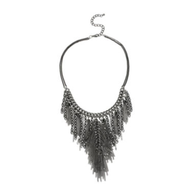 jcpenney.com | Bleu™ Crystal-Accent Silver-Tone Multi-Chain Fringe Necklace