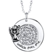 Silver Sparkle Shine™ Guardian Angel Pendant Necklace