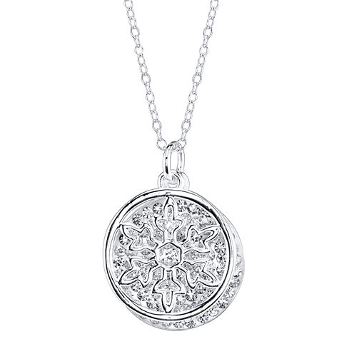 Disney Frozen Crystal Silver-Plated Double-Charm Necklace