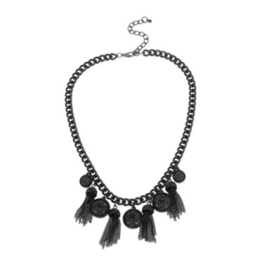 jcpenney.com | Mixit™ Black Caviar Bead and Chain Tassel Necklace