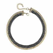 Mixit™ Two-Tone 3-Row Layered Chain Necklace