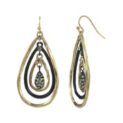 Mixit™ Crystal-Accent Two-Tone Chain Teardrop Earrings