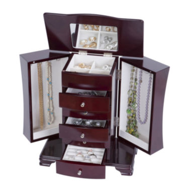 jcpenney.com | Mele & Co. Cherry-Finish Jewelry Box