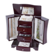 Mele & Co. Cherry-Finish Jewelry Box