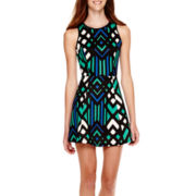 My Michelle® Sleeveless Print Fit-and-Flare Dress