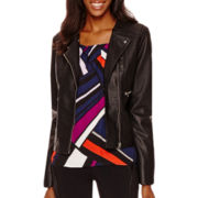 Worthington® Faux-Leather Jacket - Tall