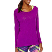 Xersion™ Long-Sleeve Cross-Back T-Shirt - Tall