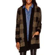 a.n.a® Long-Sleeve Plaid Cardigan Sweater - Tall