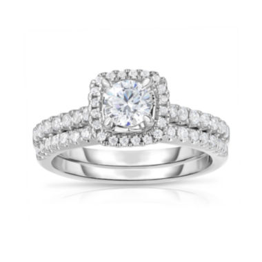 jcpenney.com | True Love, Celebrate Romance® 1 CT. T.W. Certified Diamond 14K White Gold Ring Set