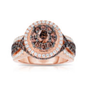 True Love, Celebrate Romance® 2 CT. T.W. Champagne Diamond 14K Rose Gold Ring