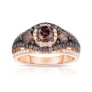 True Love, Celebrate Romance® 2 CT. T.W. Certified Champagne & White Diamond Ring