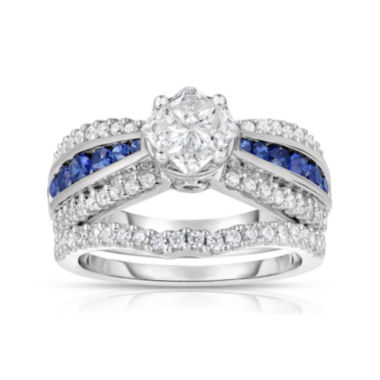 jcpenney.com | Harmony Eternally in Love 1 CT. T.W. Diamond & Blue Sapphire Ring Set