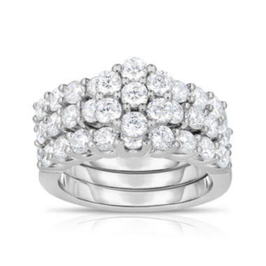 jcpenney.com | 3 CT. T.W. Diamond 14K White Cluster Gold Ring Set
