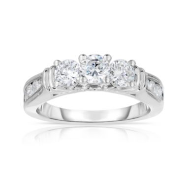 jcpenney.com | True Love, Celebrate Romance® 1½ CT. T.W. Certified Diamond 14K White Gold 3-Stone Ring