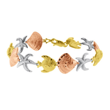 jcpenney.com | 10K Tri-Tone Gold Nautical Sea Life Bracelet