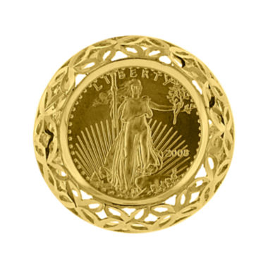 jcpenney.com | 14K Yellow Gold 1/10 oz. Diamond-Cut Liberty Dollar Coin Ring