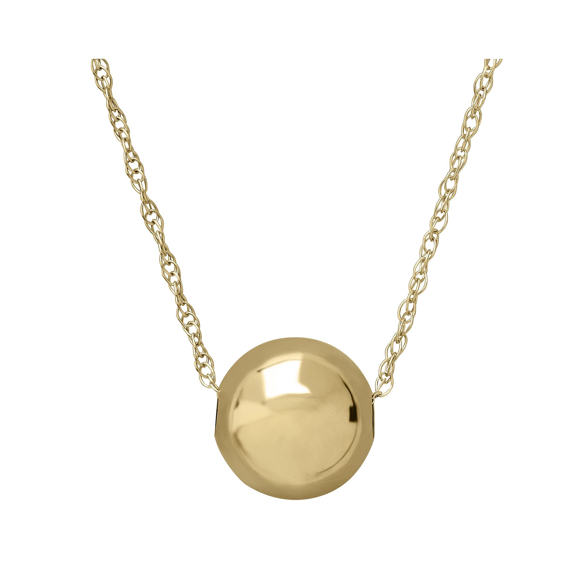 Infinite Gold™ 14K Yellow Gold 8mm Bead Pendant Necklace