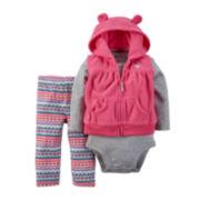 Carter's® Vest, Bodysuit and Pants - Baby Girls newborn-24m