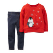 Carter's® Penguin Top and Jeggings - Baby Girls newborn-24m
