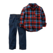 Carter's® Plaid Shirt and Jeans - Toddler Boys 2t-5t