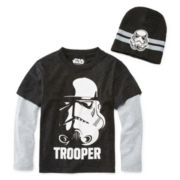Star Wars™ Long-Sleeve Tee and Beanie Set - Preschool Boys 4-7