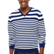 Claiborne® Variegated Stripe Sweater