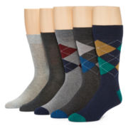 Stafford® Mens 5-pk. Cotton-Rich Crew Socks