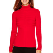 by&by Long-Sleeve Ribbed Turtleneck Sweater
