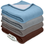 Serta® Microfleece and Sherpa Heated Throw