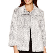 Alfred Dunner® 3/4-Sleeve Faux-Fur Jacket