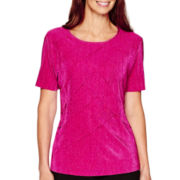 Alfred Dunner® Short-Sleeve Tiered Top