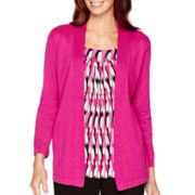 Alfred Dunner® 3/4-Sleeve Layered Sweater