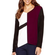 i jeans by Buffalo Long-Sleeve Colorblock Top