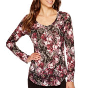 i jeans by Buffalo Long-Sleeve Print Button-Front Top