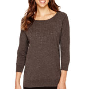 i jeans by Buffalo 3/4-Sleeve Sparkle Sweater
