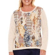 Alfred Dunner® El Dorado Long-Sleeve Textured Top - Plus