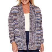 Alfred Dunner® El Dorado Long-Sleeve Space-Dyed Cardigan - Plus