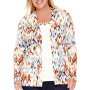 Alfred Dunner® El Dorado Long-Sleeve Ikat Layered Sweater - Plus
