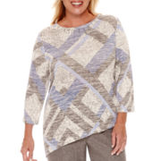 Alfred Dunner® Calabria 3/4-Sleeve Print Top