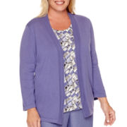 Alfred Dunner® Copenhagen 3/4-Sleeve Layered Top - Plus