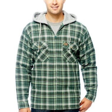 jcpenney.com | Wrangler/Riggs Workwear® Hooded Flannel Shirt Jacket