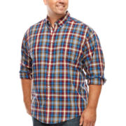 Dockers® Long-Sleeve Plaid Twill Shirt - Big & Tall