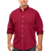 Dockers® Long-Sleeve Solid Twill Shirt - Big & Tall
